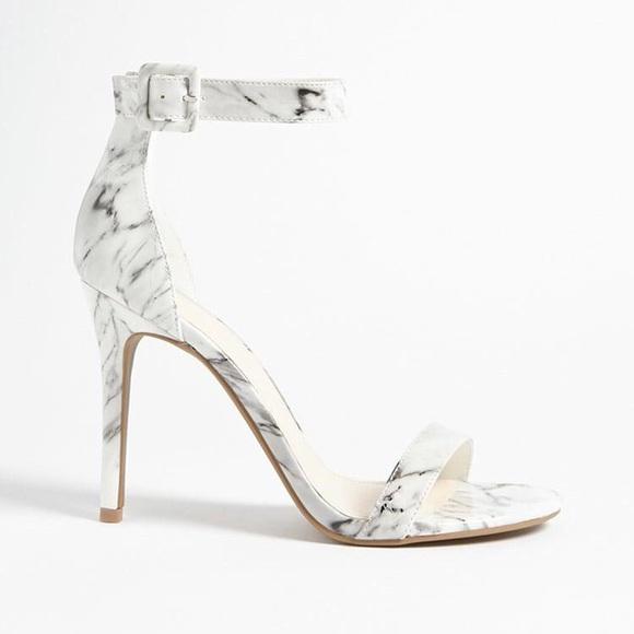 74577d2f8ef White Marble Print Stiletto Heels